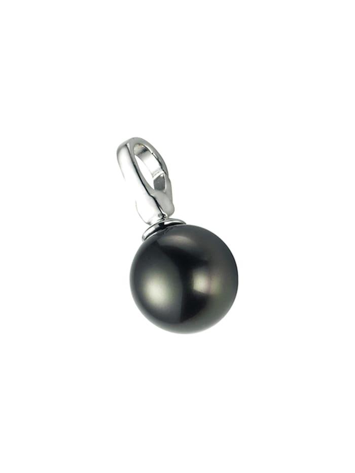 Giorgio Martello Charm Muschelkern-Perle grau, Silber 925, Grau