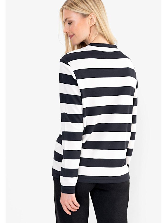 Sweatshirt mit Streifen und Placementprint