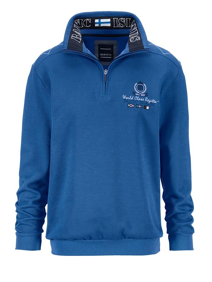 BABISTA Sweat-shirt à superbes détails mode, Bleu roi