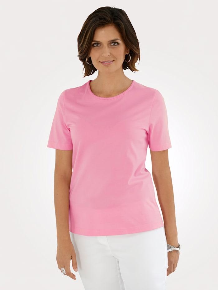 MONA Shirt mit Pima Baumwolle, Rosé