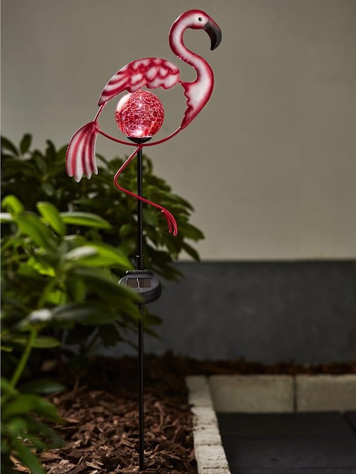 Star Trading LED Solargartenstab Flamingo, Pink