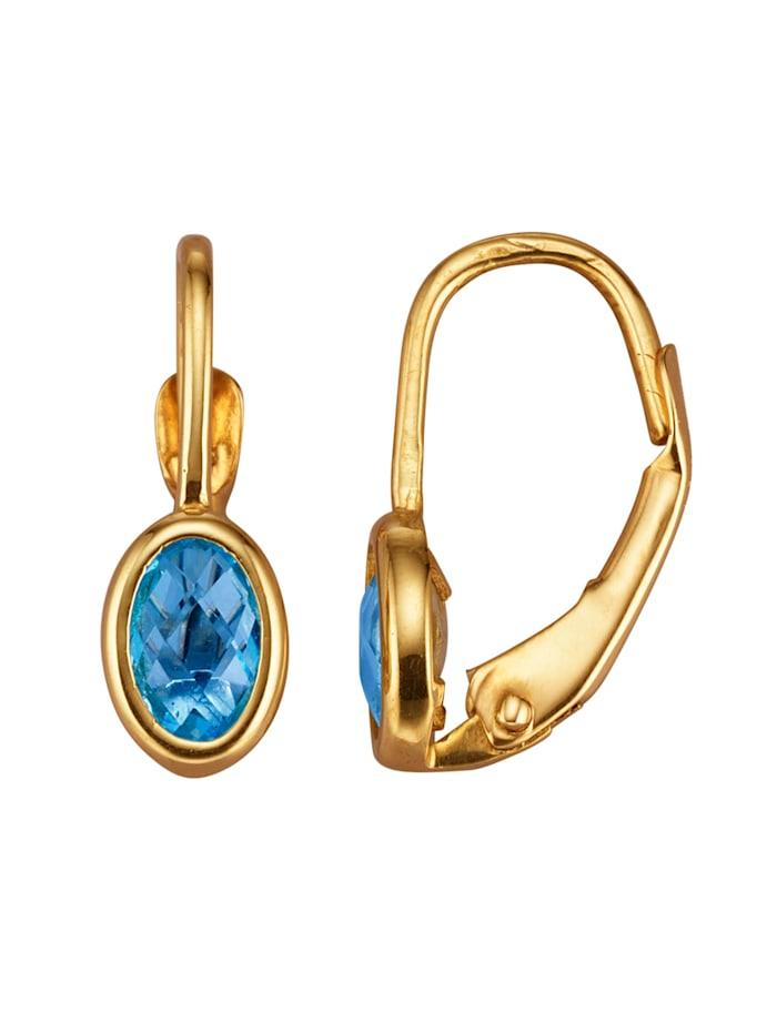 Ohrringe mit Blautopas, Blau
