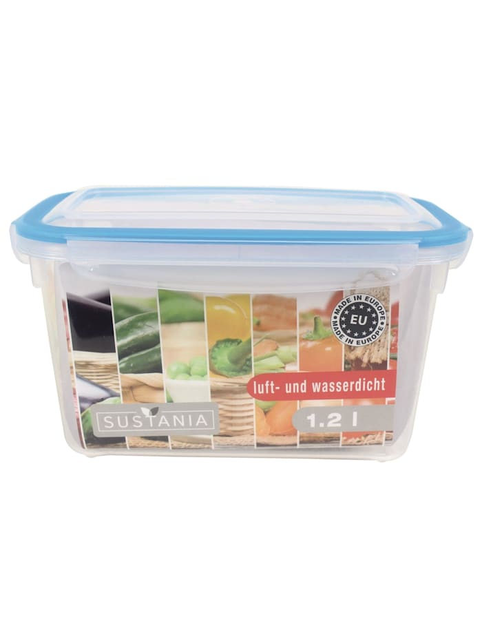 Neuetischkultur Frischhaltedose 1,2 Sustania, Transparent, Türkis