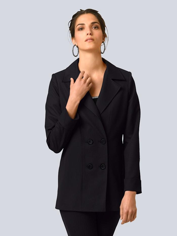 Alba Moda Blazer in leicht verlängerter Form, Schwarz