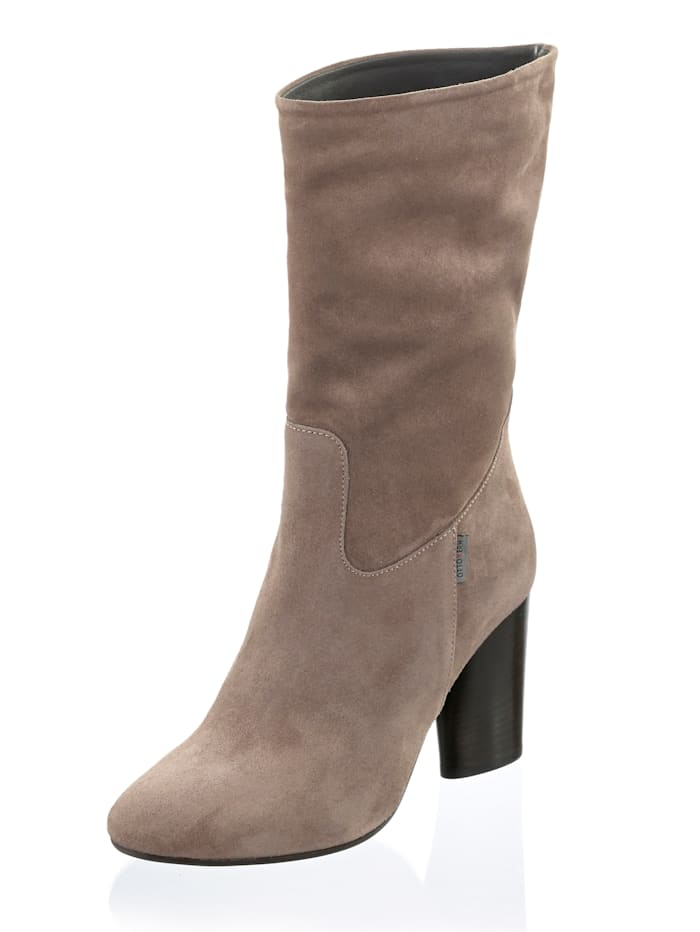 Otto Kern 1/2-Stiefel in moderner Form, Taupe