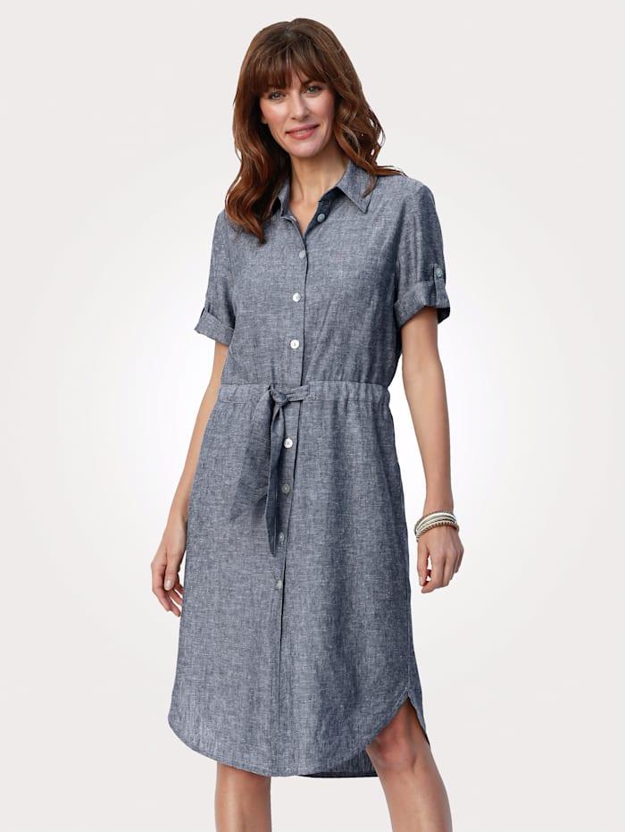Dress made from linen blend