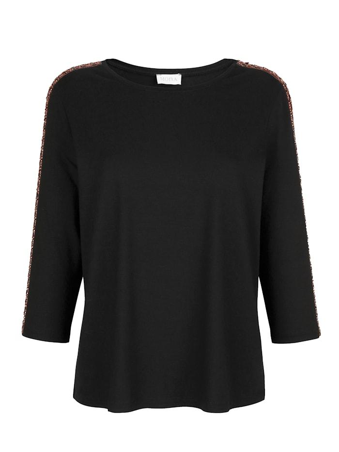 Shirt met modieuze sierband