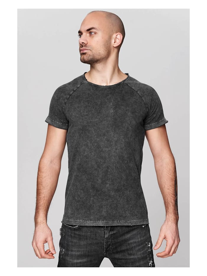 trueprodigy T-Shirt Premium Basic Tyler im Vintage-Look, 0403-Anthracite