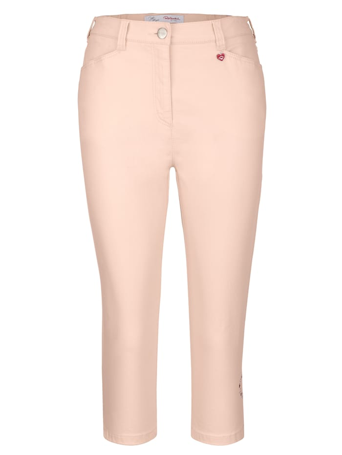 Capri trousers with ornamental beads