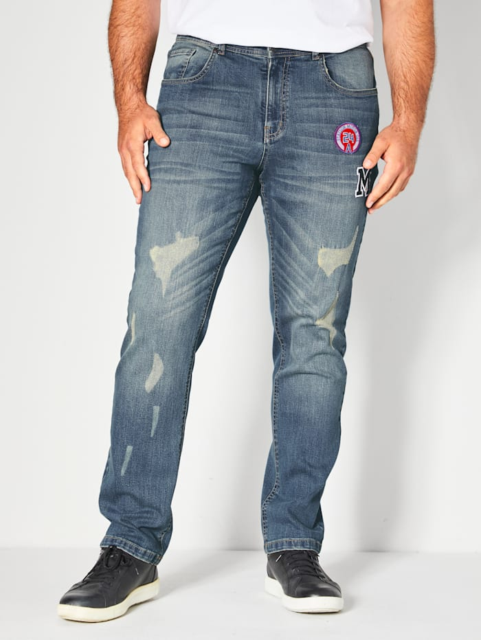 Men Plus Jeans Tapered Fit, Blue stone