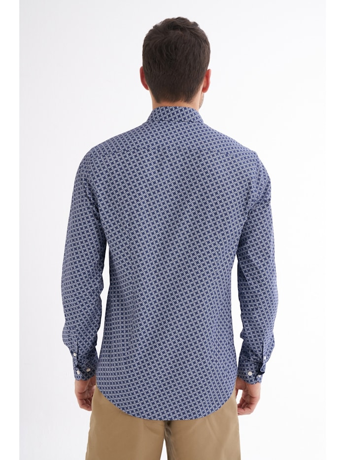 Hemd Fidelio mit grafischem Allover-Muster