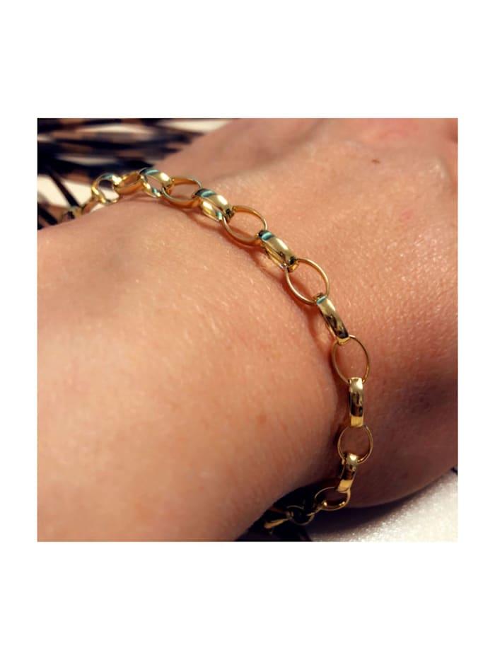 Armband Erbskette 333/- Gelbgold 19 cm