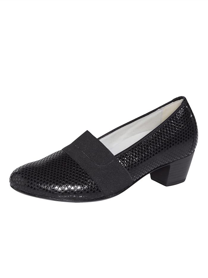 Waldläufer Court shoes, Black
