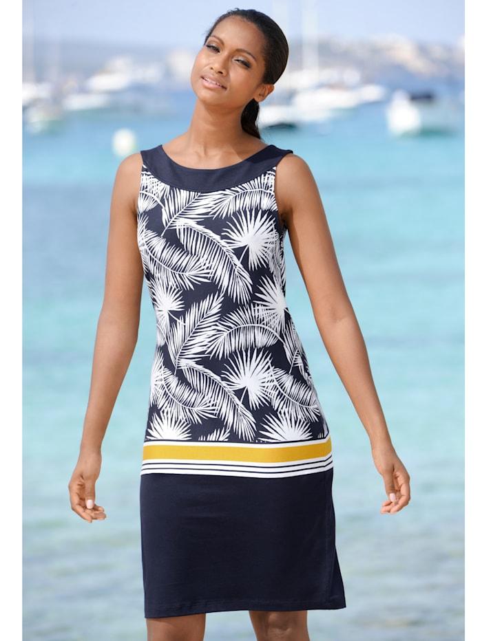 Strandkleid mit Blätterdruck