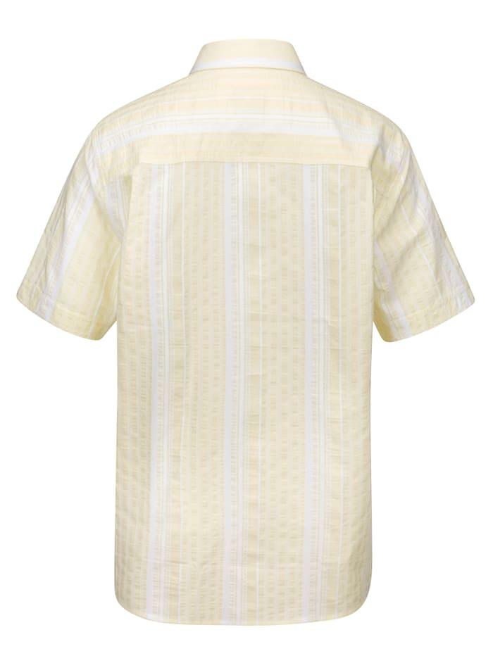 Košeľa s prúžkovaným vzorom z farbenej priadze