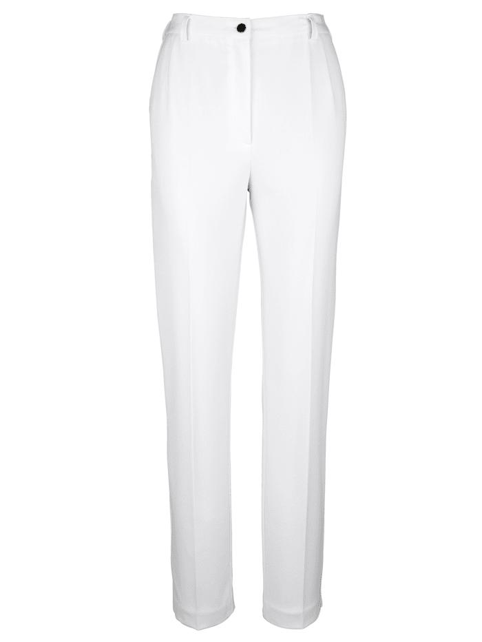 m. collection Hose mit Bauchweg-Effekt, Creme-Weiß