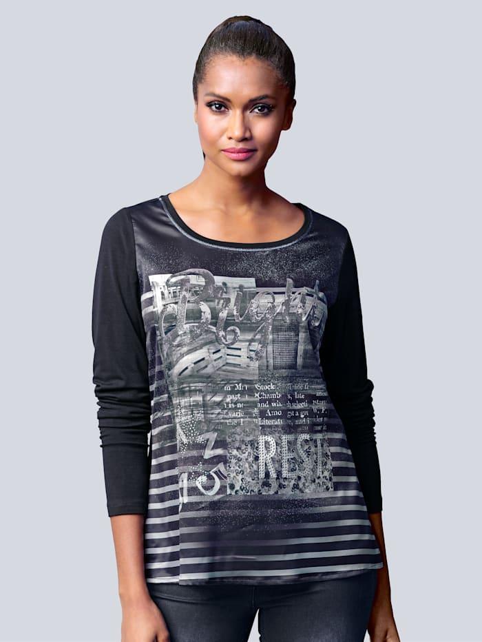Shirt mit großflächigem trendigem Druck im Vorderteil