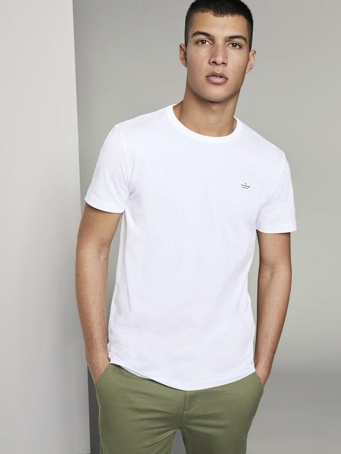 Tom Tailor Denim Basic T-Shirt aus speziellem Jersey, White