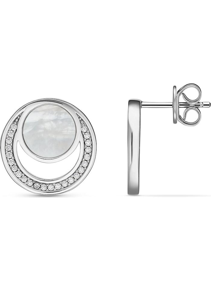 JETTE Silver Damen-Ohrstecker 925er Silber 48 Zirkonia
