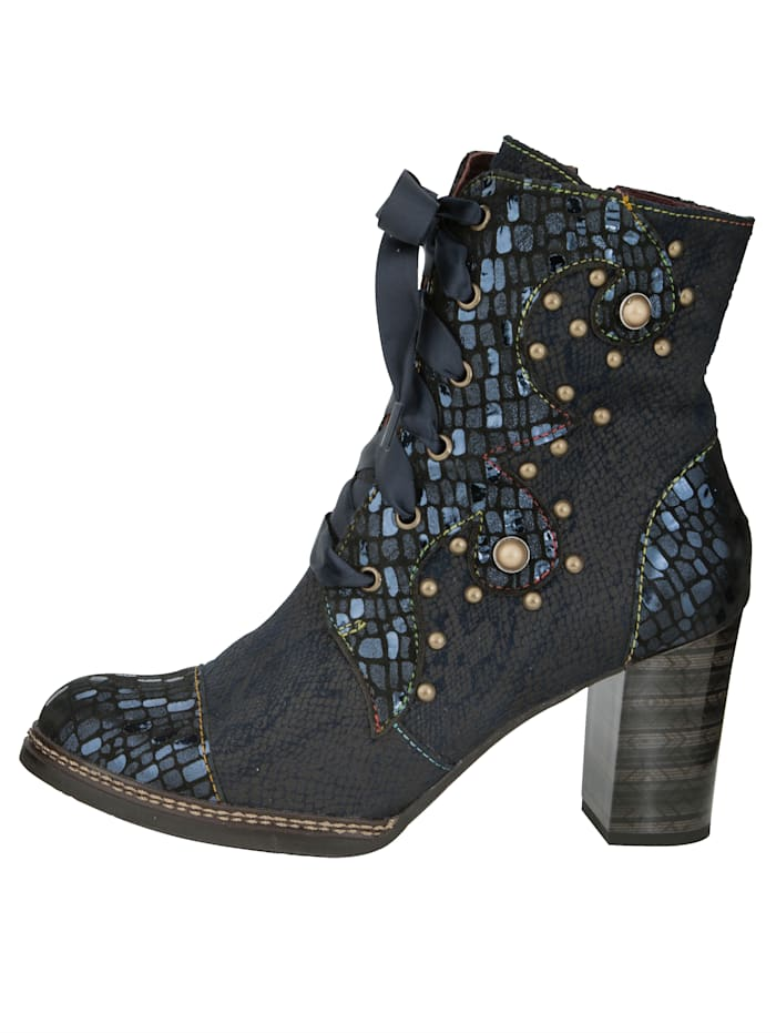 Lace-up Boots in a wonderful material mix