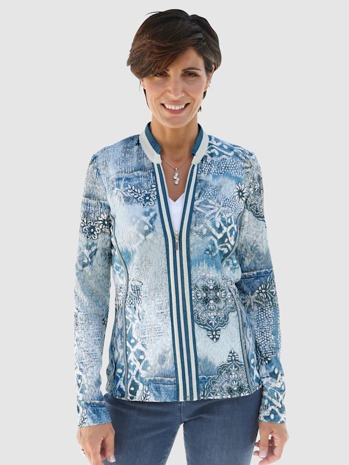 SE Stenau Shirtjacke der Marke SE Stenau, Blau/Marineblau/Weiß