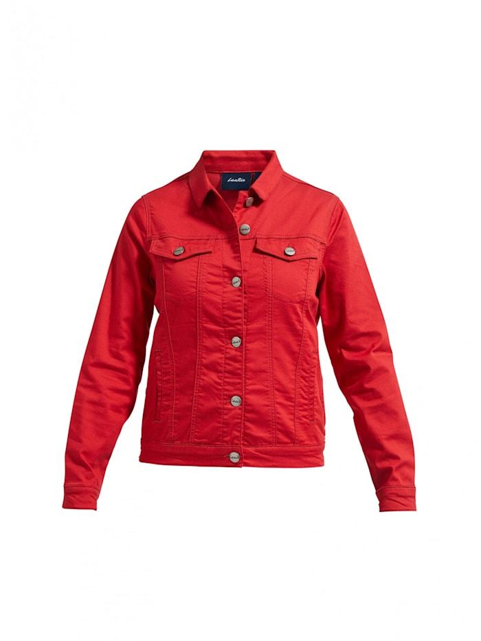 LauRie Jeansjacke Mary mit horizontalen Ziernähten, Red