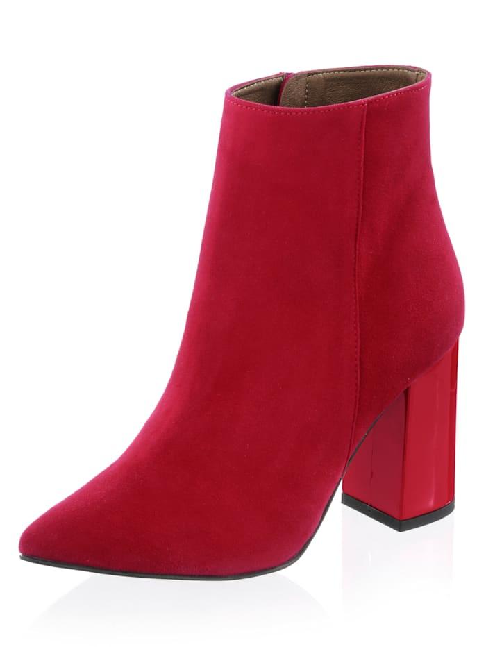 Alba Moda Stiefelette mit Lackbezogenem Absatz, Rot