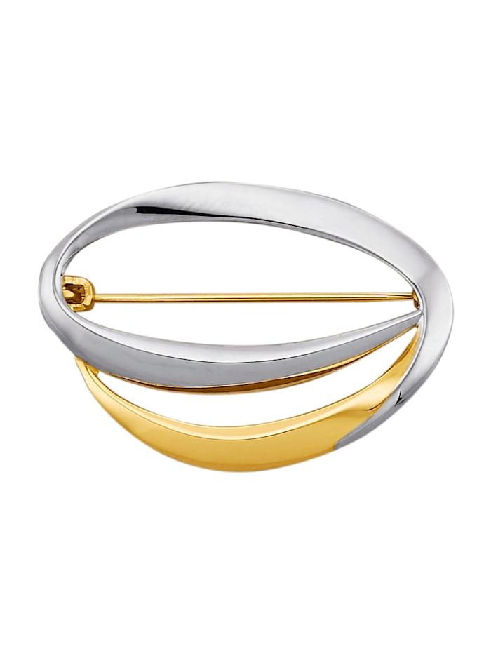 Amara Gold Brosche in Gelbgold 585, Gelbgoldfarben