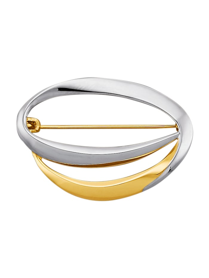 Amara Or Broche en or jaune 585, Coloris or jaune