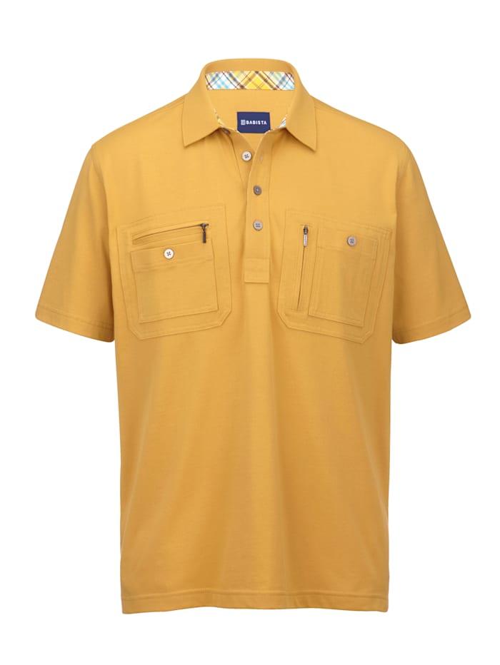 BABISTA Poloshirt met praktische borstzakken, Geel