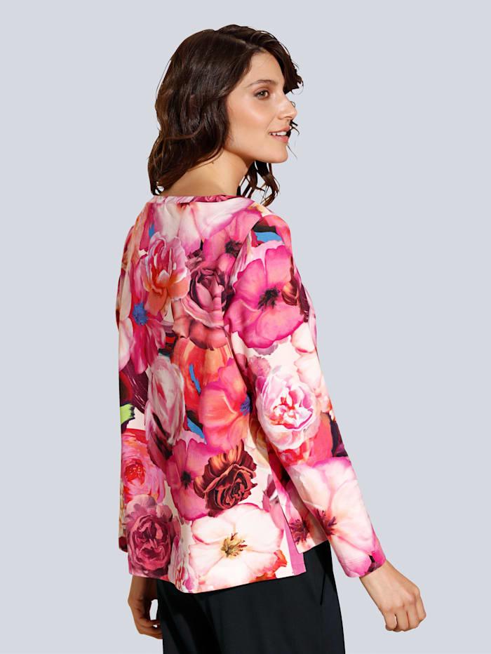 Sweatshirt im farbharmonischen Blumenprint