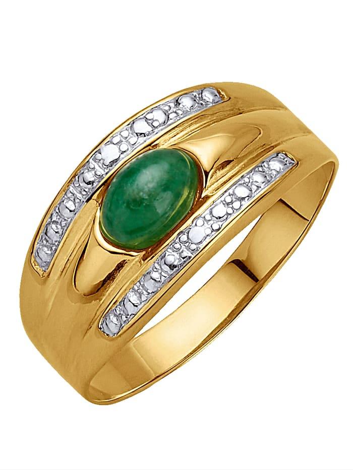 KLiNGEL Damenring mit Smaragd, Grün