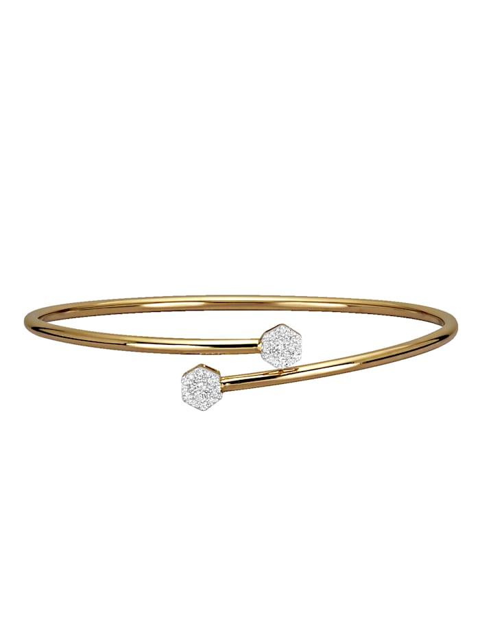 Diemer Diamant Armspange mit Brillanten, Gelbgoldfarben