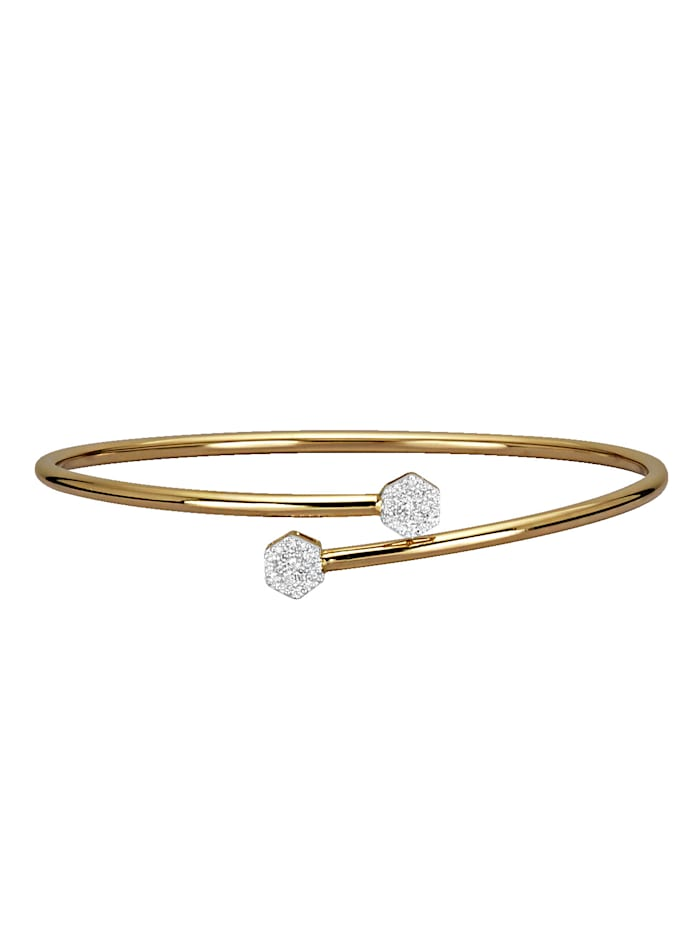 Diemer Diamant Stelt armband, Guldfärgad