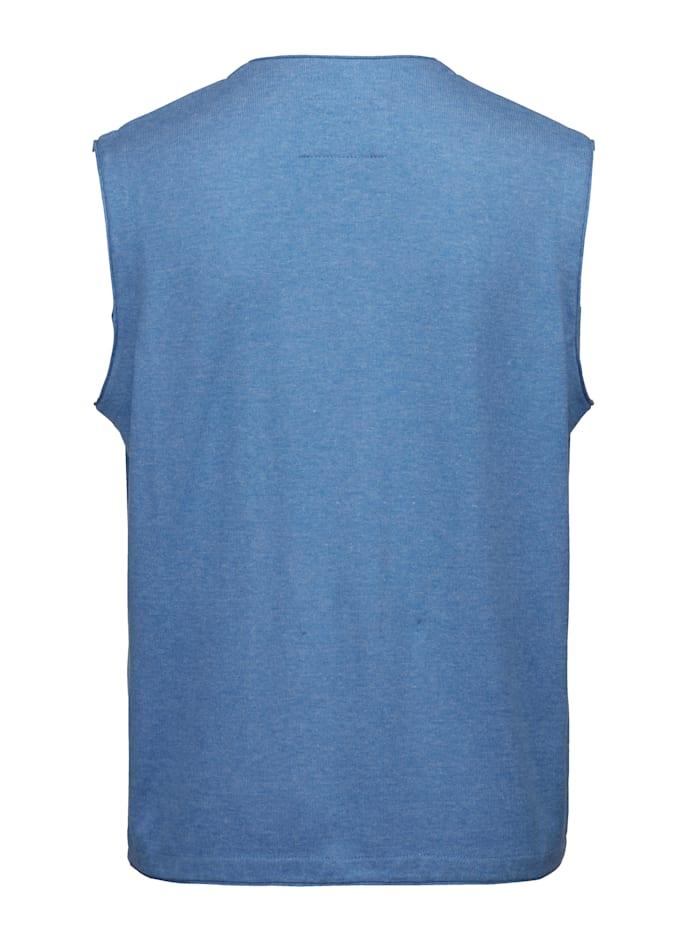Pletená vesta z ľahko ošetrovateľného mixu bavlny