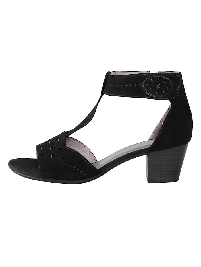 Sandale mit Klettverschluss an der Fessel