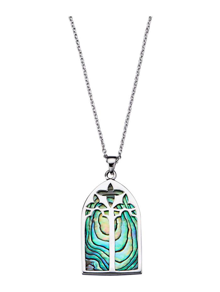 Diemer Trend Hanger met ketting Abalone-schelp, Zilverkleur