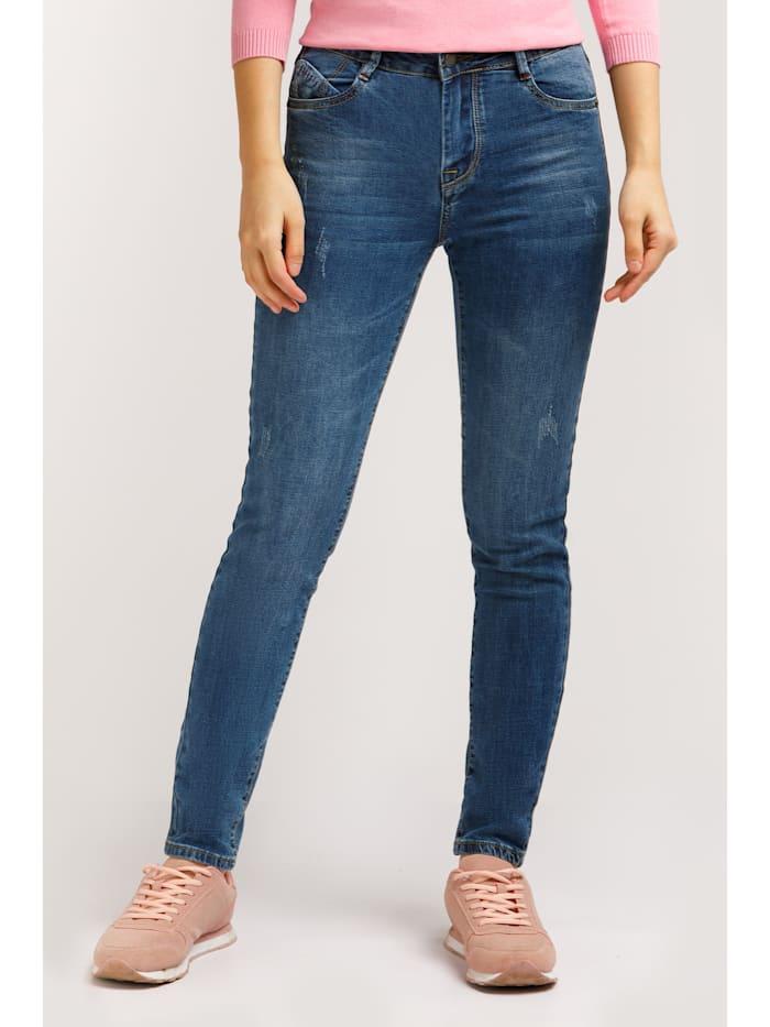Finn Flare Slim Fit-Jeans mit toller Waschung, denim