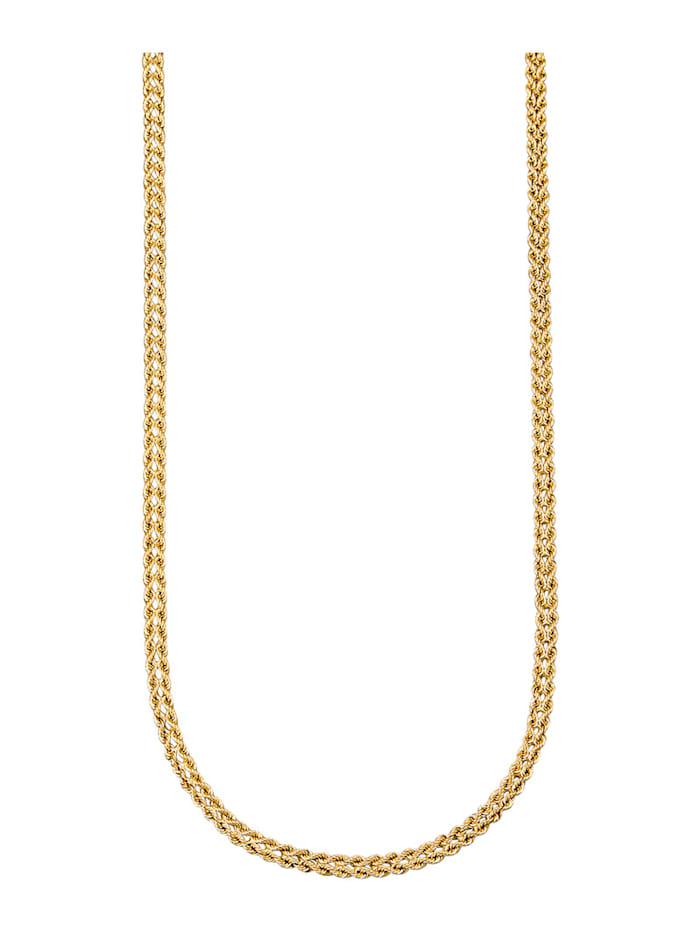Amara Or Collier maille cordon en or jaune 585, Coloris or jaune