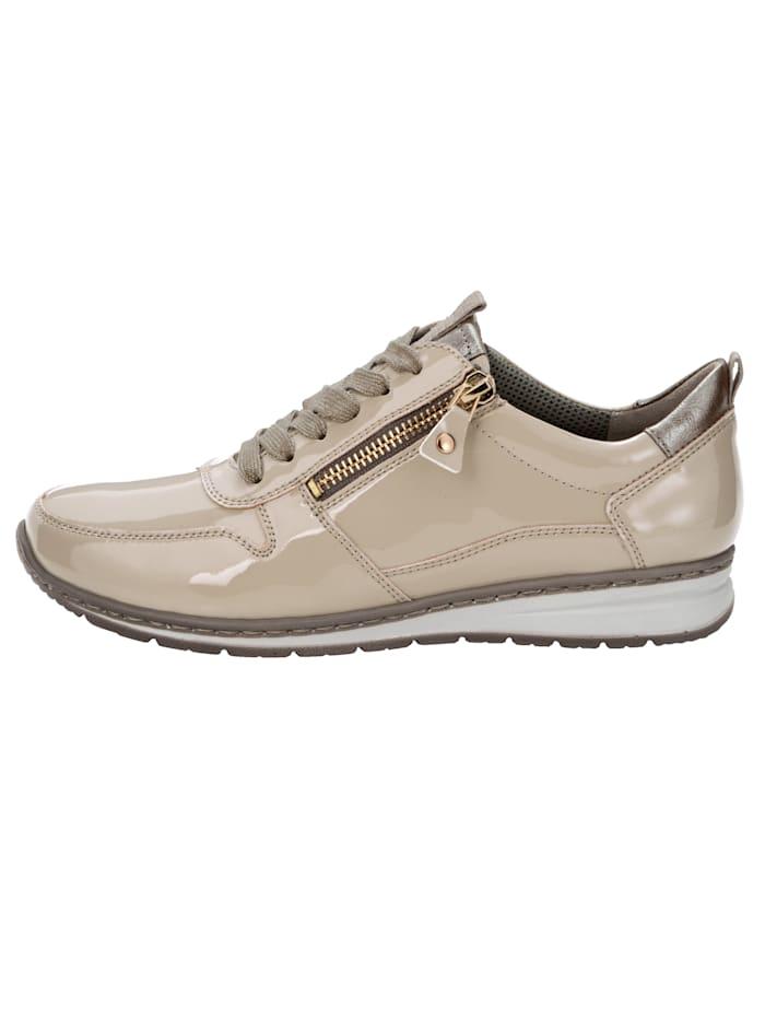 Sneakers à lacets légèrement scintillants
