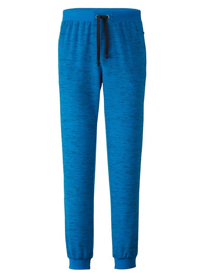 Men Plus Joggingbroek in speciaal model, Royal blue/Zwart