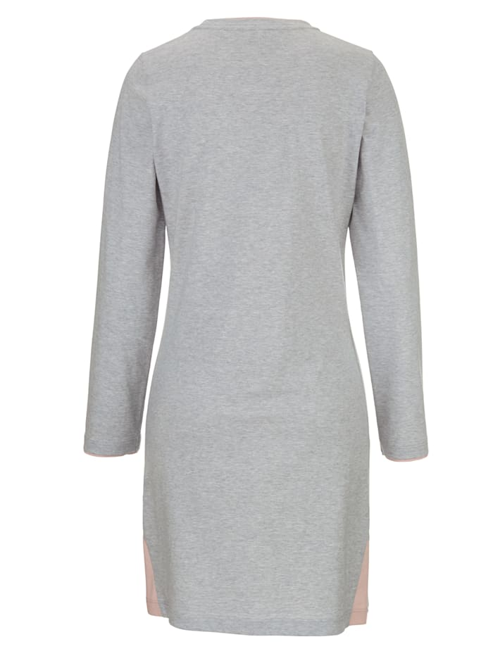 Nightdress with contrast detailing