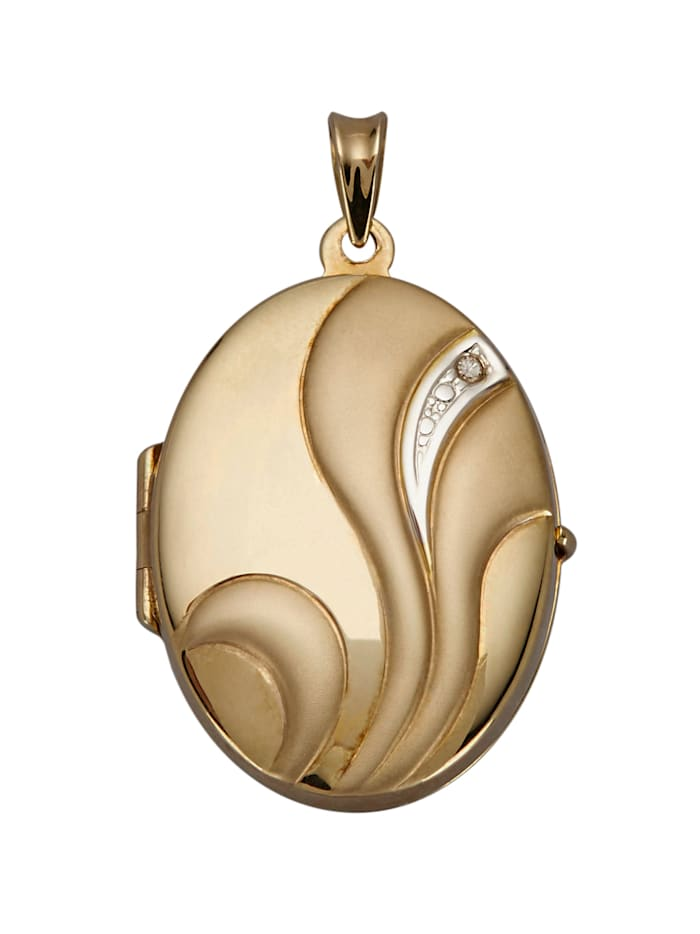 Timanttisomisteinen medaljonkiriipus