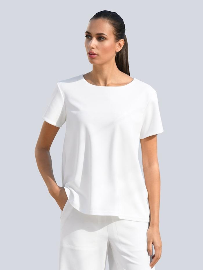 Alba Moda Bluse mit Zipper im Rücken, Weiß