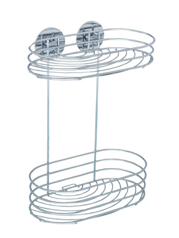 Wenko Turbo-Loc® Wandregal 2 Ablagen, Befestigen ohne bohren, Chrom