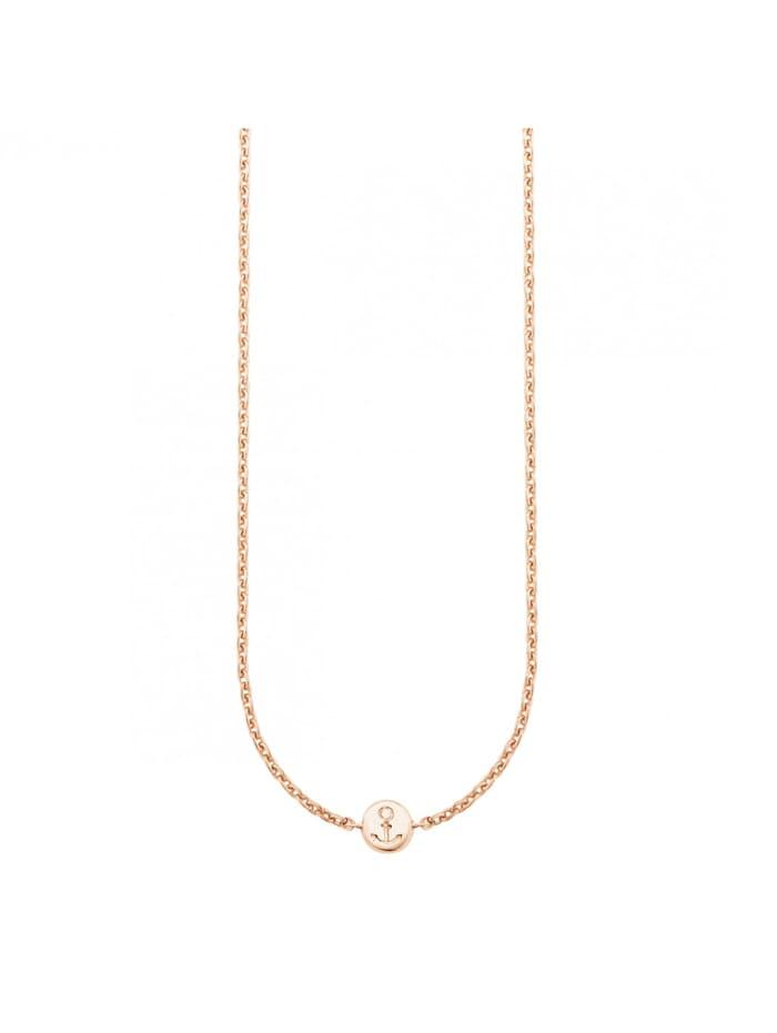 CAI Collier 925/- Sterling Silber ohne Stein 39+4cm Glänzend, rot