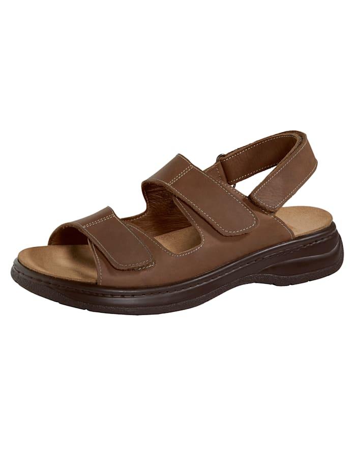 Sandale mit auswechselbarem Korkfußbett
