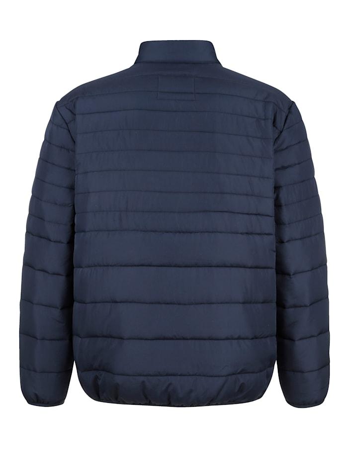Gewatteerde jas met contrastkleurige rits