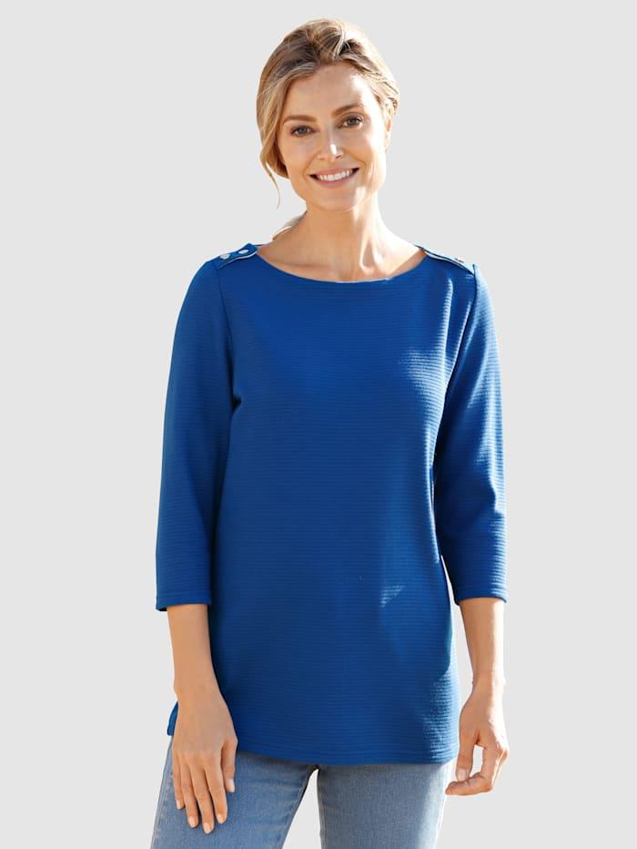 basically you Sweatshirt in strukturierter Ware, Royalblau
