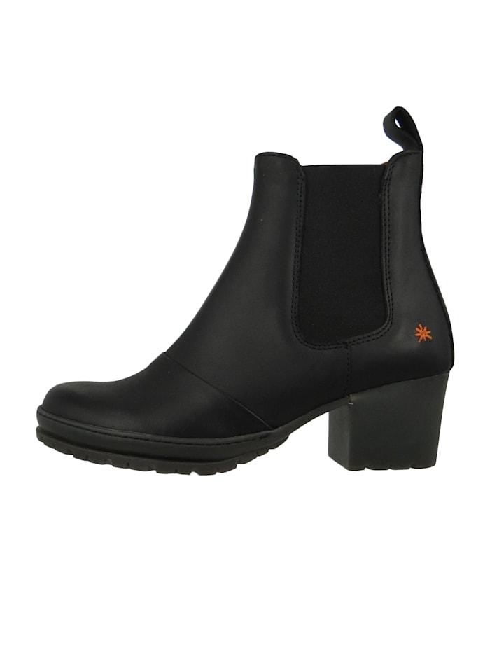 Damen Leder Stiefelette Ankle Boot Camden Black Schwarz 1235
